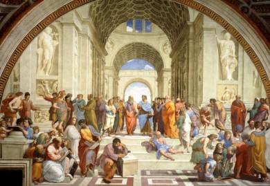 A escola de Atenas de Rafeal Sanzo